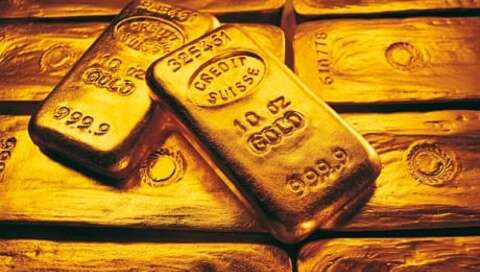 Gold bars der Credit Suisse