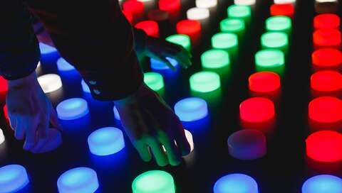 people holding assorted-color LED lights | © Katya Austin on Unsplash