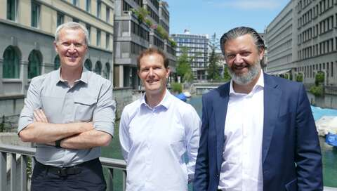 Norbert Benz/CCO, Kaspar Geiser/CEO aspectra & Marco Marchesi/CEO CymbiQ Group | © aspectra AG